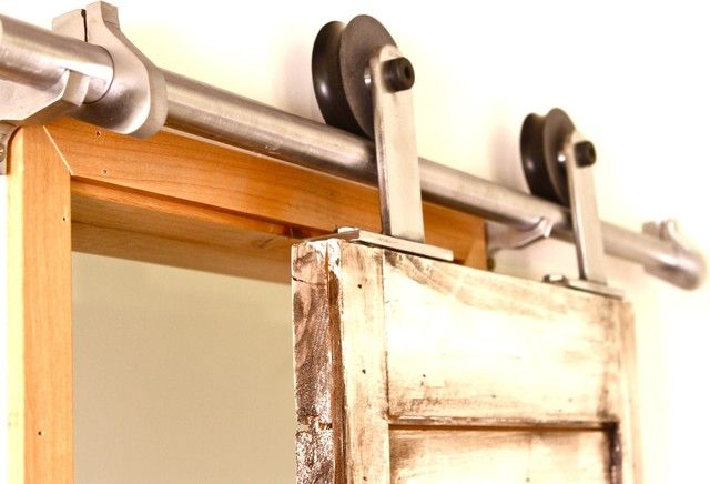 Barn Door Hardware Tube Track System Modern Hardware Bathroom