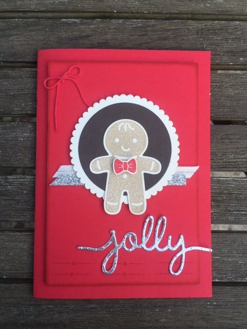 kerry timms cookie cutter punch stamps gingerbread man handmade card card…