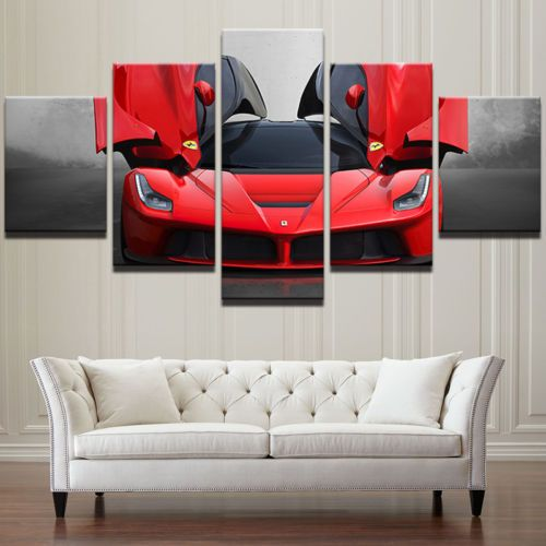 5Pcs Framed Home Decor Canvas Print Painting Wall Art Ferrari Flashy ...