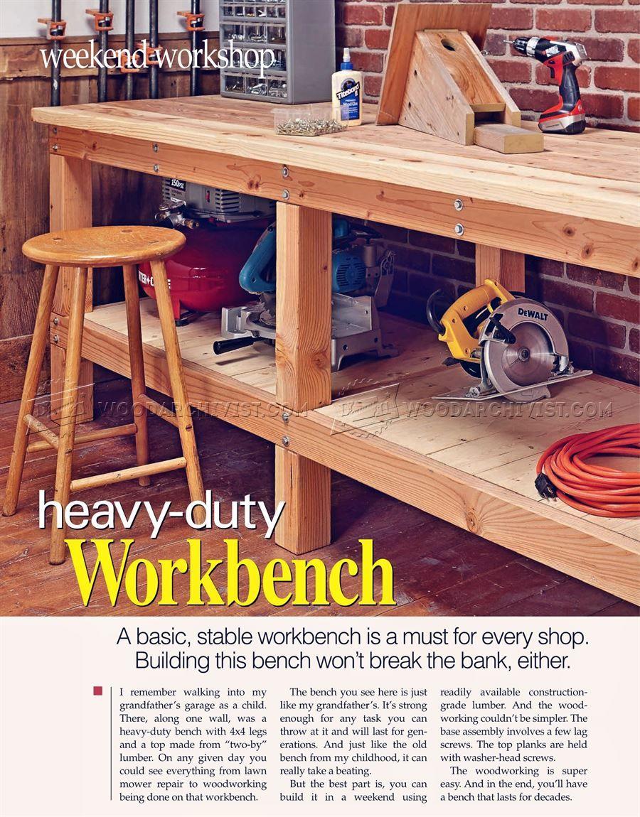 2381 Heavy Duty Workbench Plans Workshop Solutions Workshop