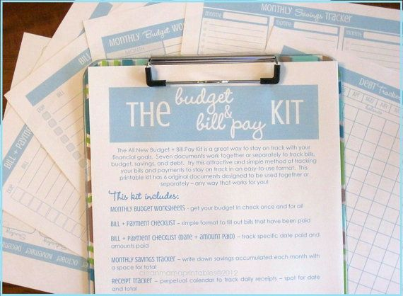The Budget and Bill Pay Kit Printables Pinterest Bill pay - how to make a monthly budget spreadsheet