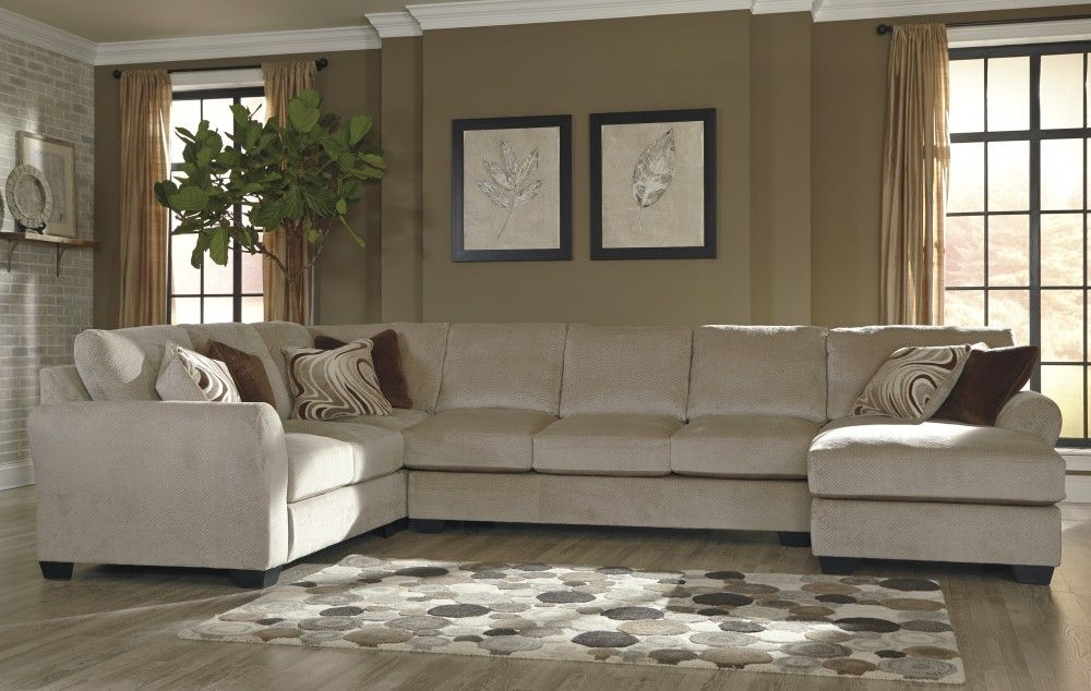Chaise Sectional With Armless Sofa