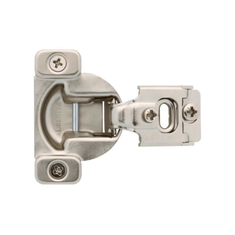 Liberty Hardware H70223c Np C Nickel 1 2 Inch Overlay Concealed European Cabinet Door Hinge With 105 Degree Opening Angle Package Of 2 Overlay Cabinet Hinges Hinges For Cabinets Overlay Hinges
