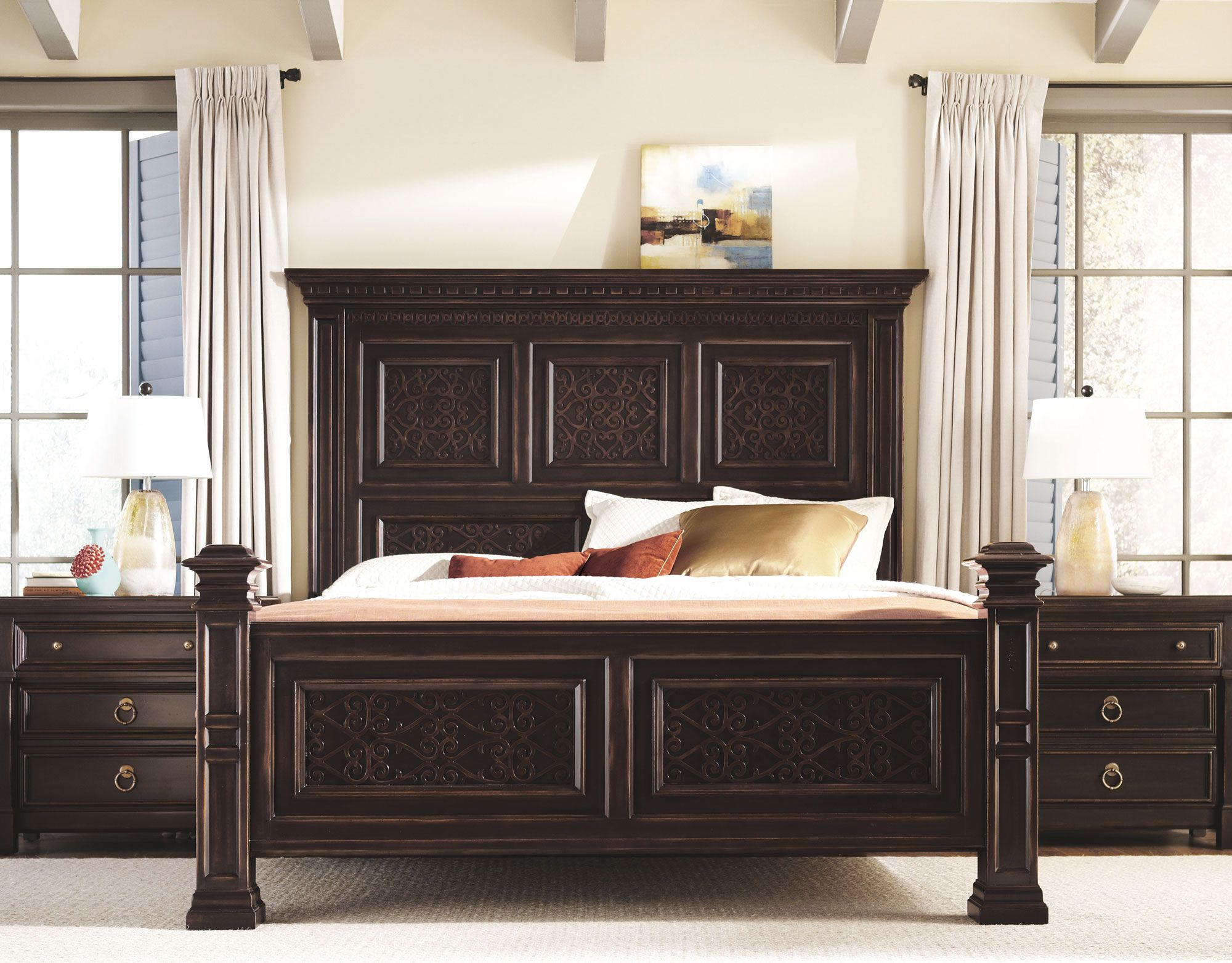Shop For Pacific Canyon Panel Bed   QUEEN, And Other Bedroom Panel/Wall  Beds At Star Furniture TX. This Intricately Detailed, Bernhardt Bed, Was  Inspired By ...