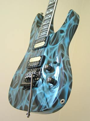 custom guitar paint designs custom paint job guitar custom painted guitars guitar painting. Black Bedroom Furniture Sets. Home Design Ideas