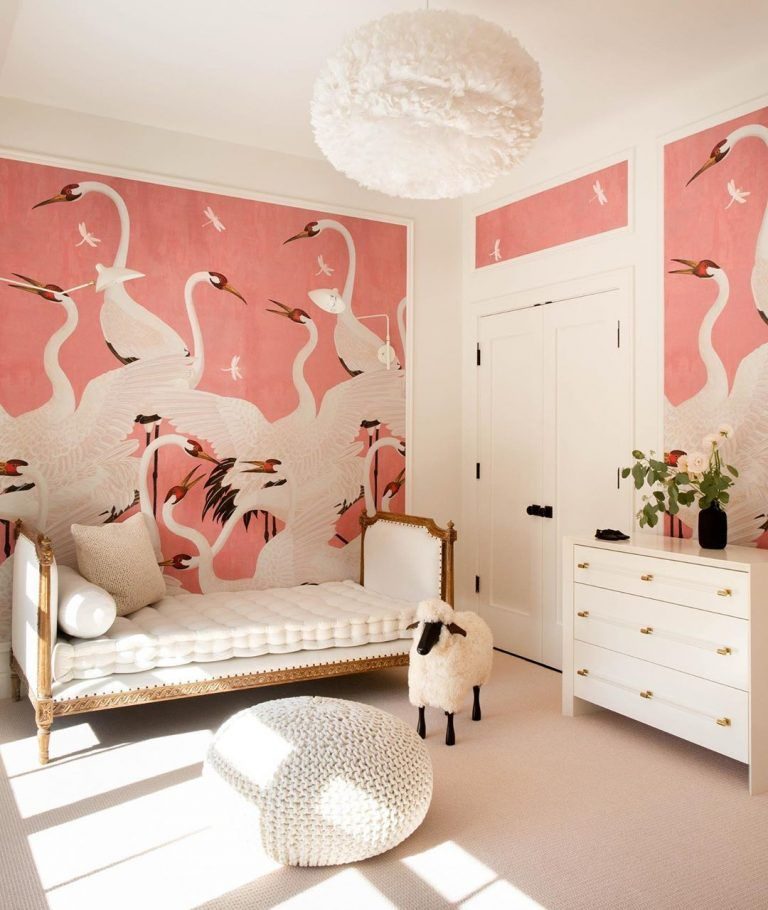This JawDropping Nursery Has the Prettiest Wallpaper We