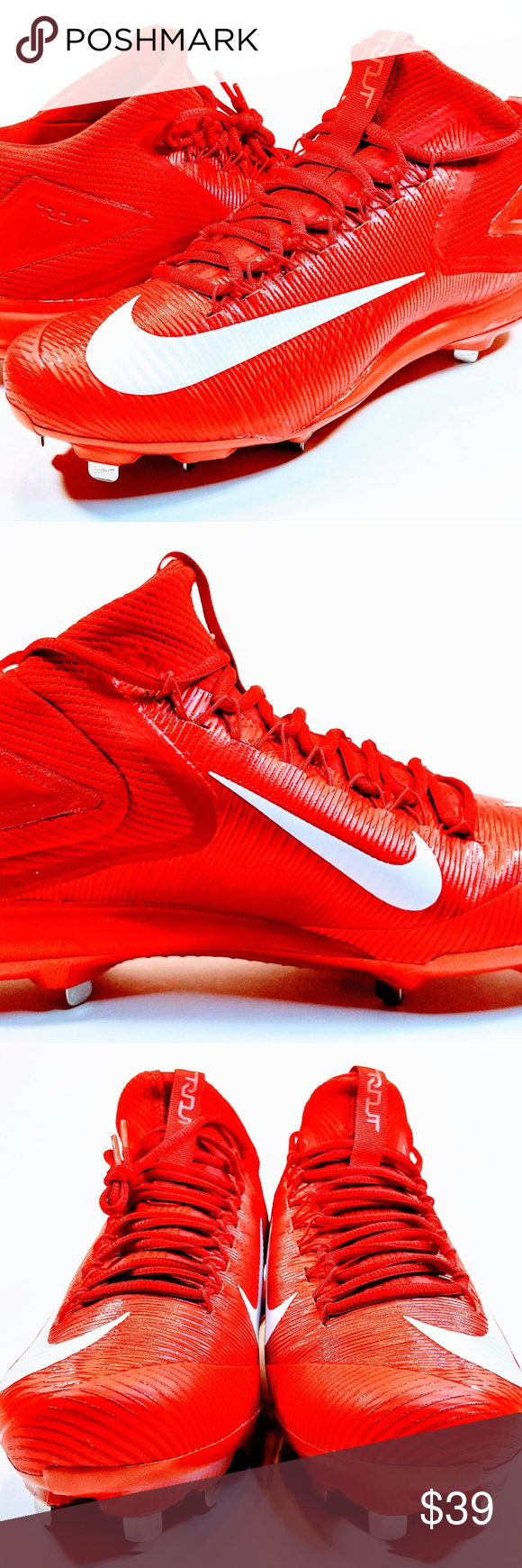 Nike Zoom Mike Trout 3 Men S Red Baseball Cleats New Nike Zoom Mike Trout 3 Metal Men S Baseball Shoes Cleats 11 5 Baseball Cleats Baseball Shoes Reds Baseball