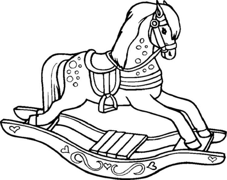 Rocking Horse Coloring Pages You'll Love
