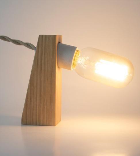 Oak Block Lamp - Shape of Your Choice by Tungsten Customs | Hatch.co