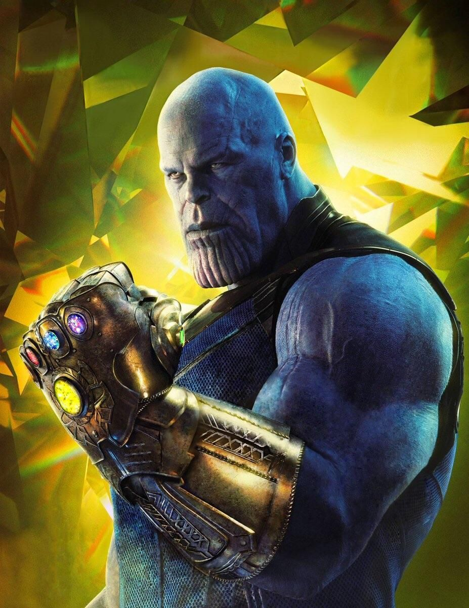 thanos wallpaper in hd with full gauntlet. [empire magazine edit
