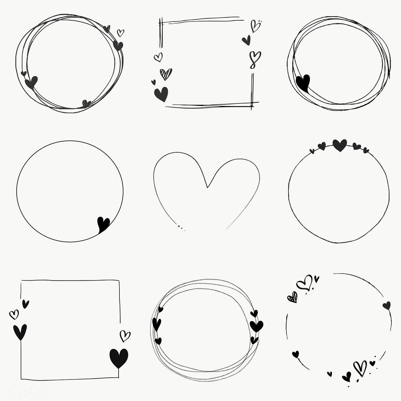 Download premium vector of Doodle floral wreath vector collection 843818 – DIY