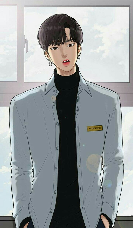 Seojun Han Fotografi Remaja Komedi Romantis Kartun