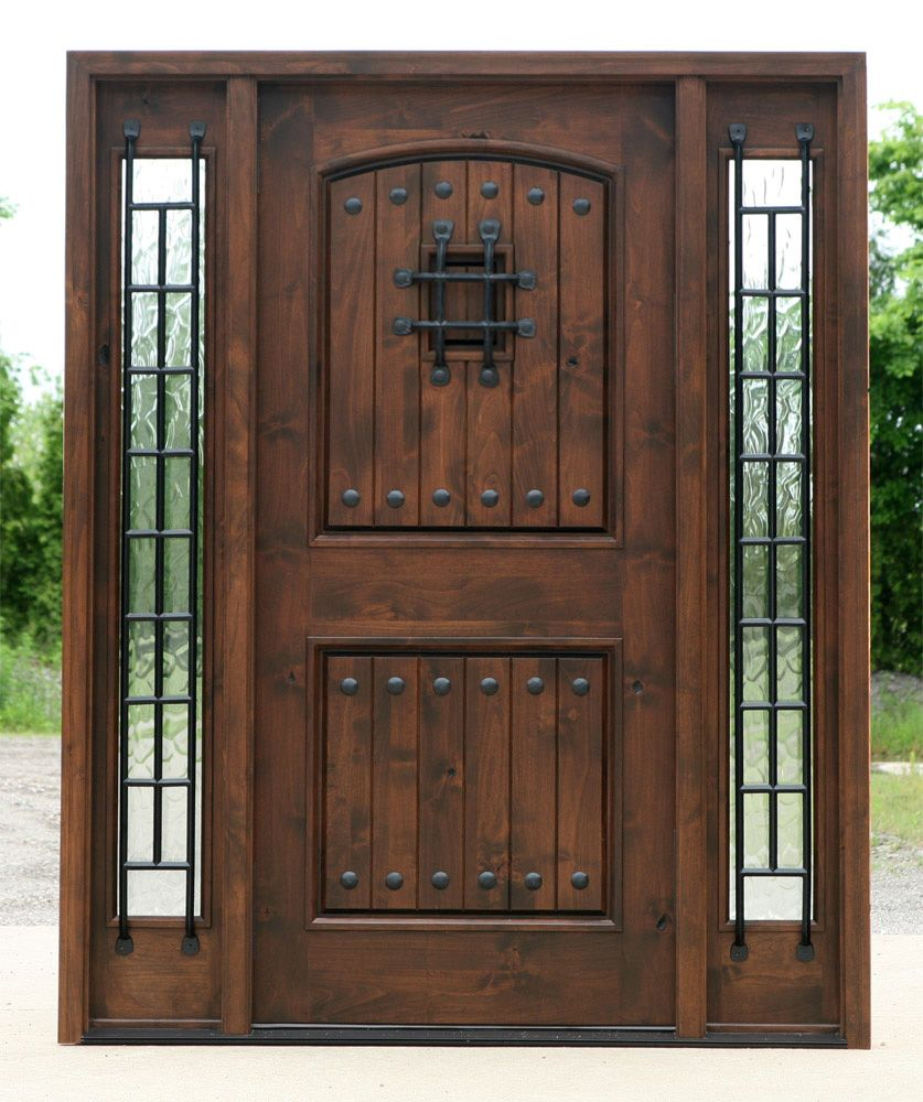 Doors Elegant Solid Wooden Front Doors With Best Design Ideas And Big Varnished Wood Rustic Exterior Doors Exterior Front Doors Exterior Doors With Sidelights