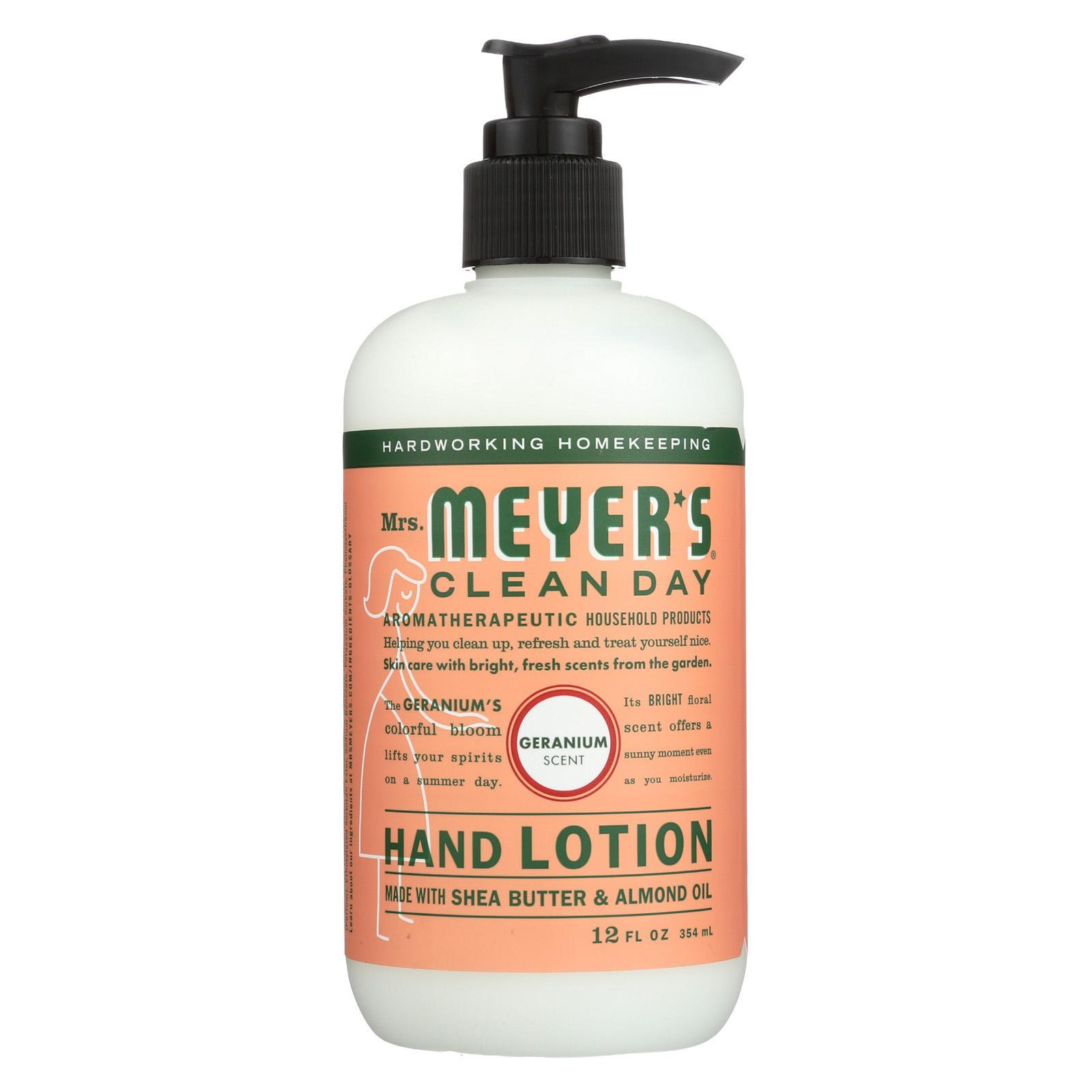 Mrs Meyers Clean Day Hand Lotion Geranium Case Of 6 12 Fl Oz