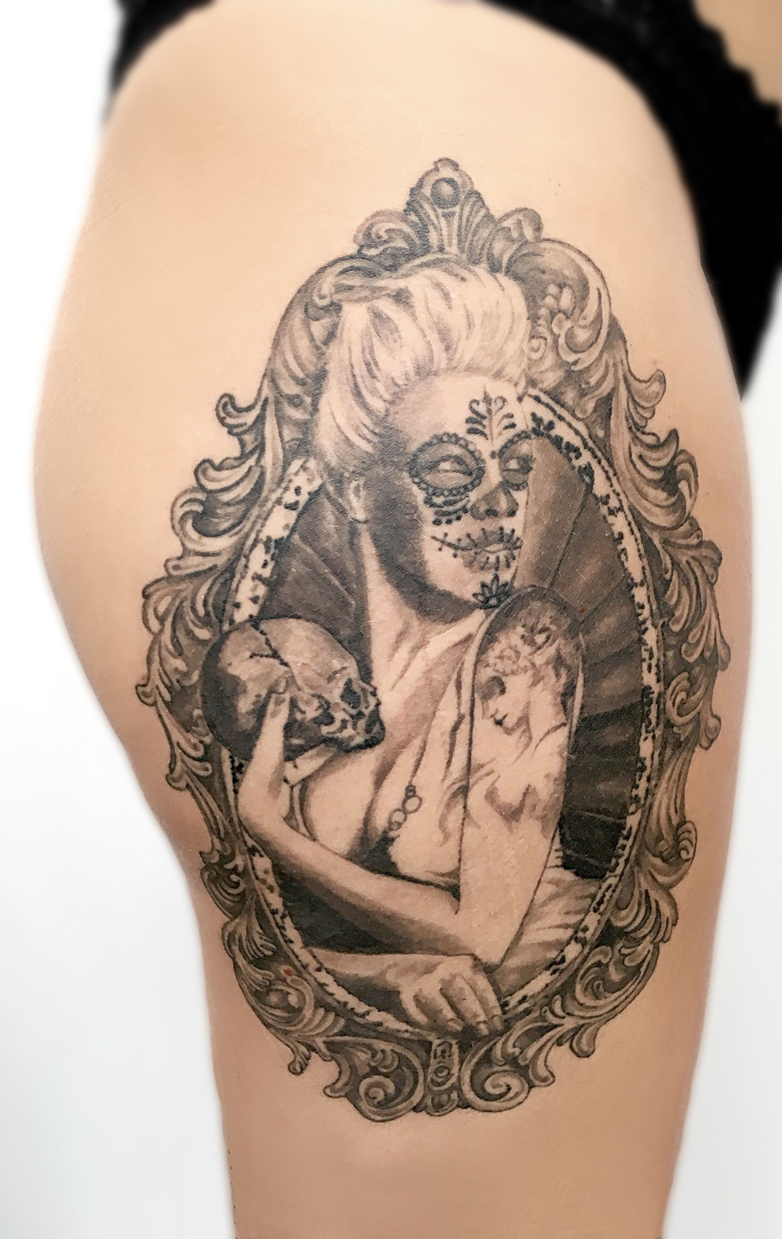 baroque frame tattoo - photo #4