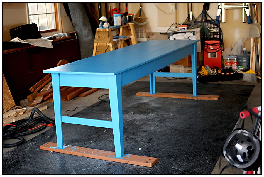 Narrow Farmhouse Table: Want Something Like This For A Craft Table, But A  Little