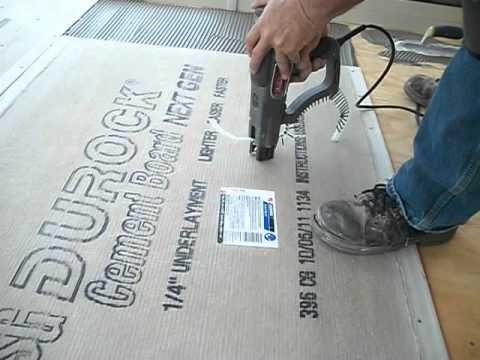 How To Install Backer Board Durock For Floor Tile Tile Floor