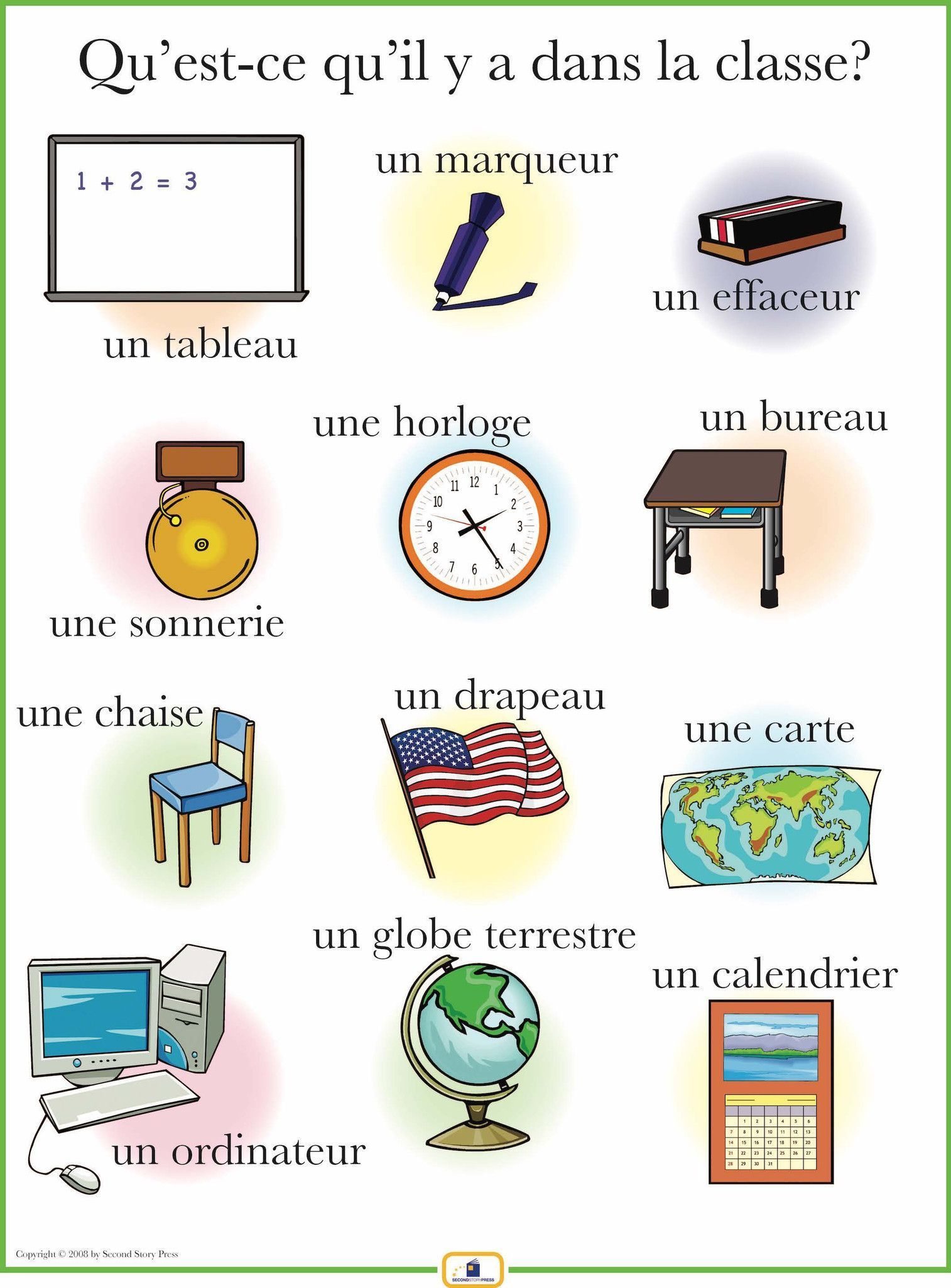Introduce Classroom Items With This Colorful 18 X 24 In