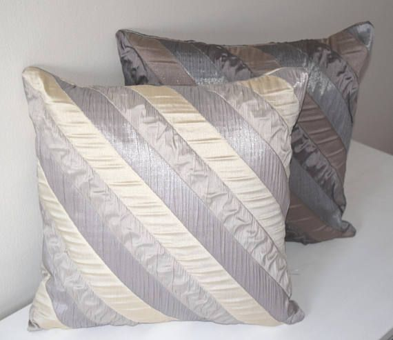 Phenomenal Grey Striped Pillow Cover 18X18 Cushion Covers Beige Gmtry Best Dining Table And Chair Ideas Images Gmtryco