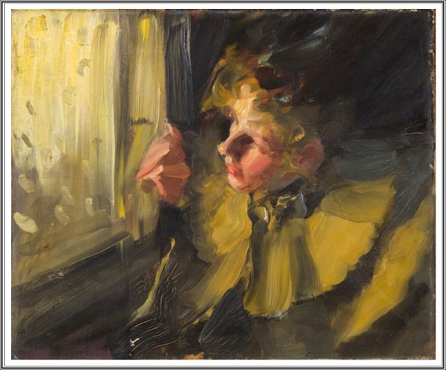 Anders Zorn 1860 1920 Omnibus Etude 1892 Zorn Art Portrait Painting