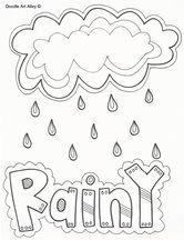 Weather words ~ rainy   Preschool weather, Weather ...