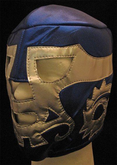 Lucha Libre Wrestling Mask- Canek (Blue/Silver)