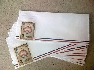 Touristy Airmail Envelopes