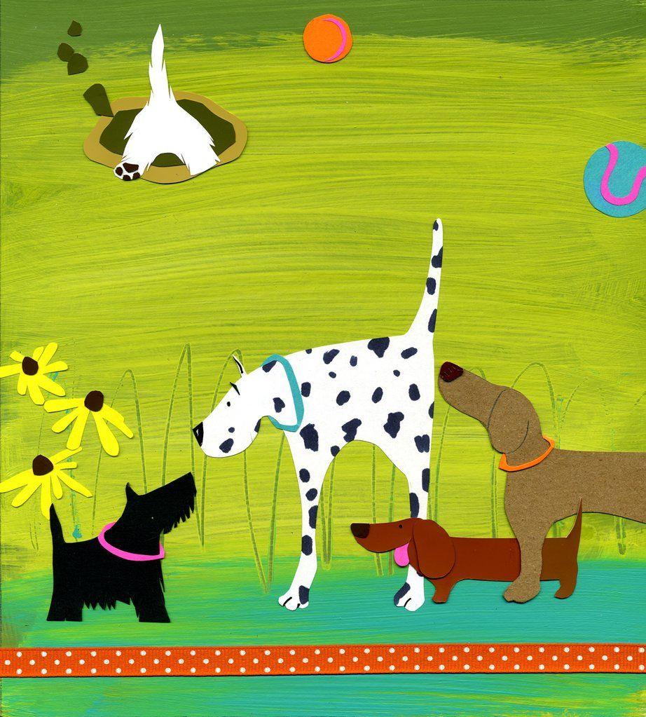 Editorial Illustration Shelley Davies Dog Art Dog Paintings