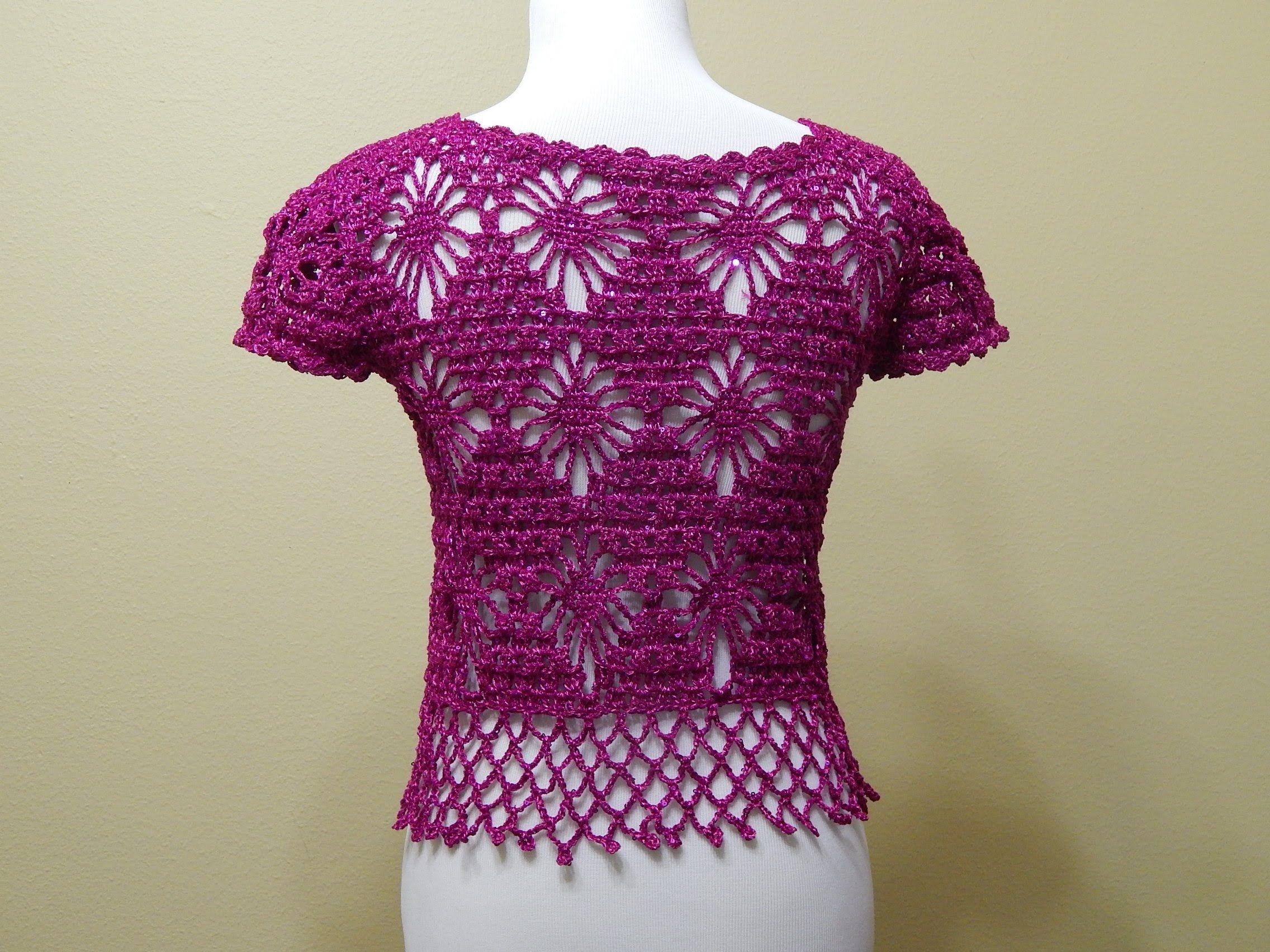 Bolero Bugambilia Crochet parte 2 de 3 ~ **Free Video Tutorial ...