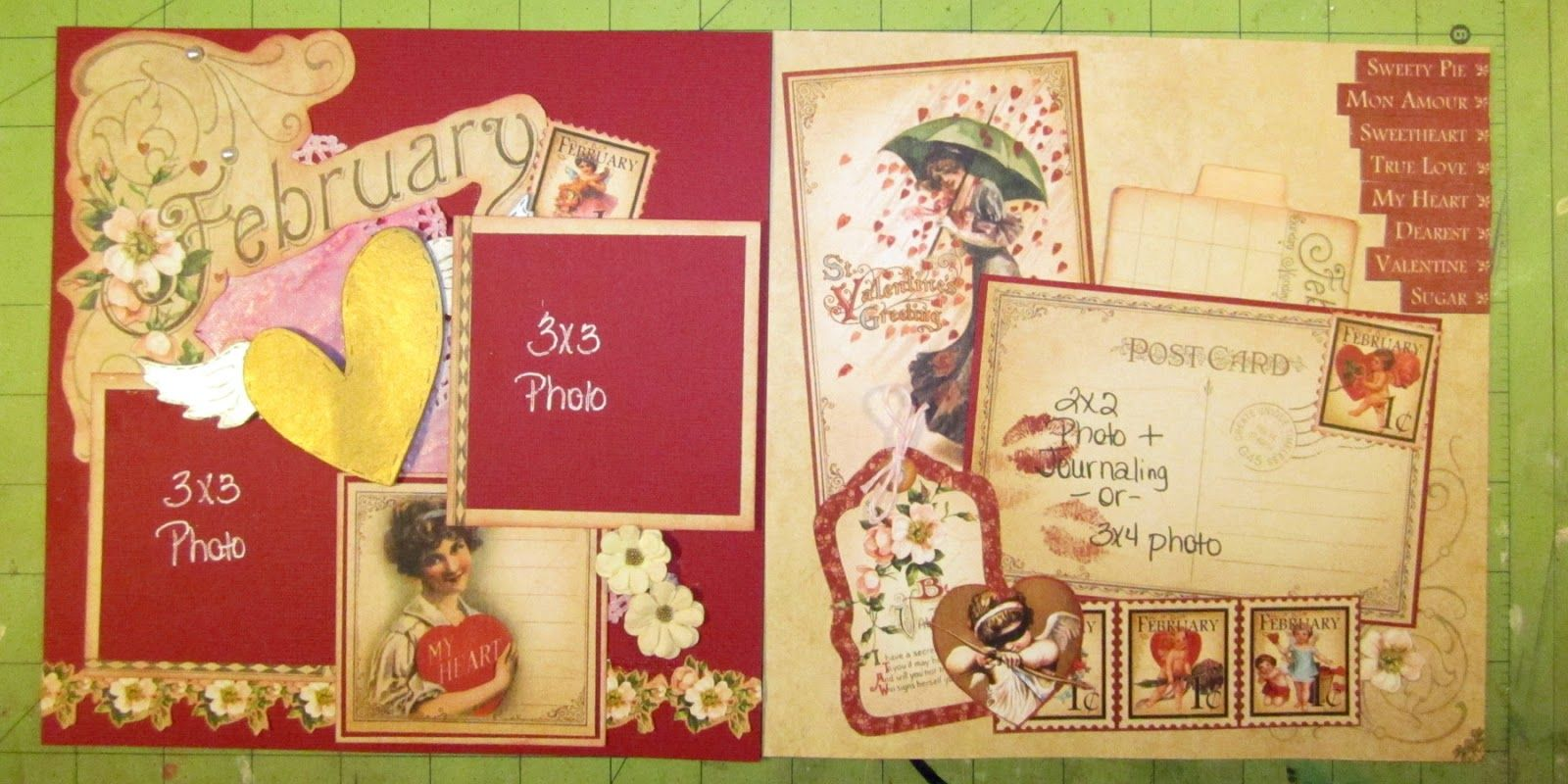 How to scrapbook 8x8 layouts - A Page In Time Yearly Album At The Crafty Scrapper 8x8 Scrapbook Layoutsideas