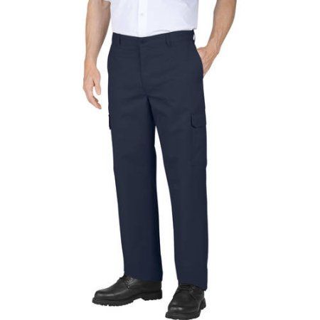 012006f31 Genuine Dickies Big Men's Relaxed Fit Flat Front Cargo Pant, Size: 34 x 34,  Blue