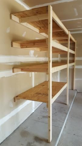 Photo of Very easy garage shelving how to #WoodworkOrganization