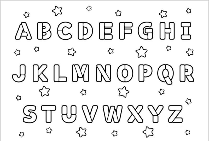 Alphabet Coloring Pages For Toddlers