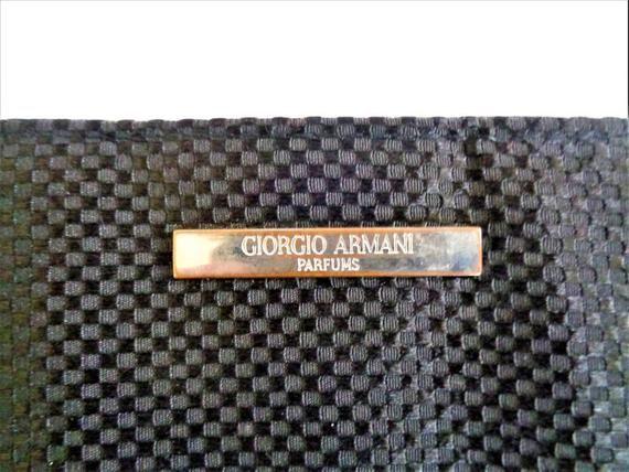 b79f193b Giorgio ARMANI Perfume Black Clutch Cosmetic Bag in 2019 | ARMANI ...