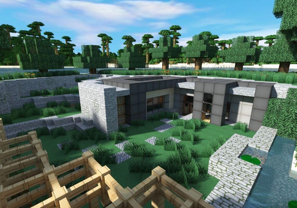 Minecraft house very unique design | Modern minecraft ...