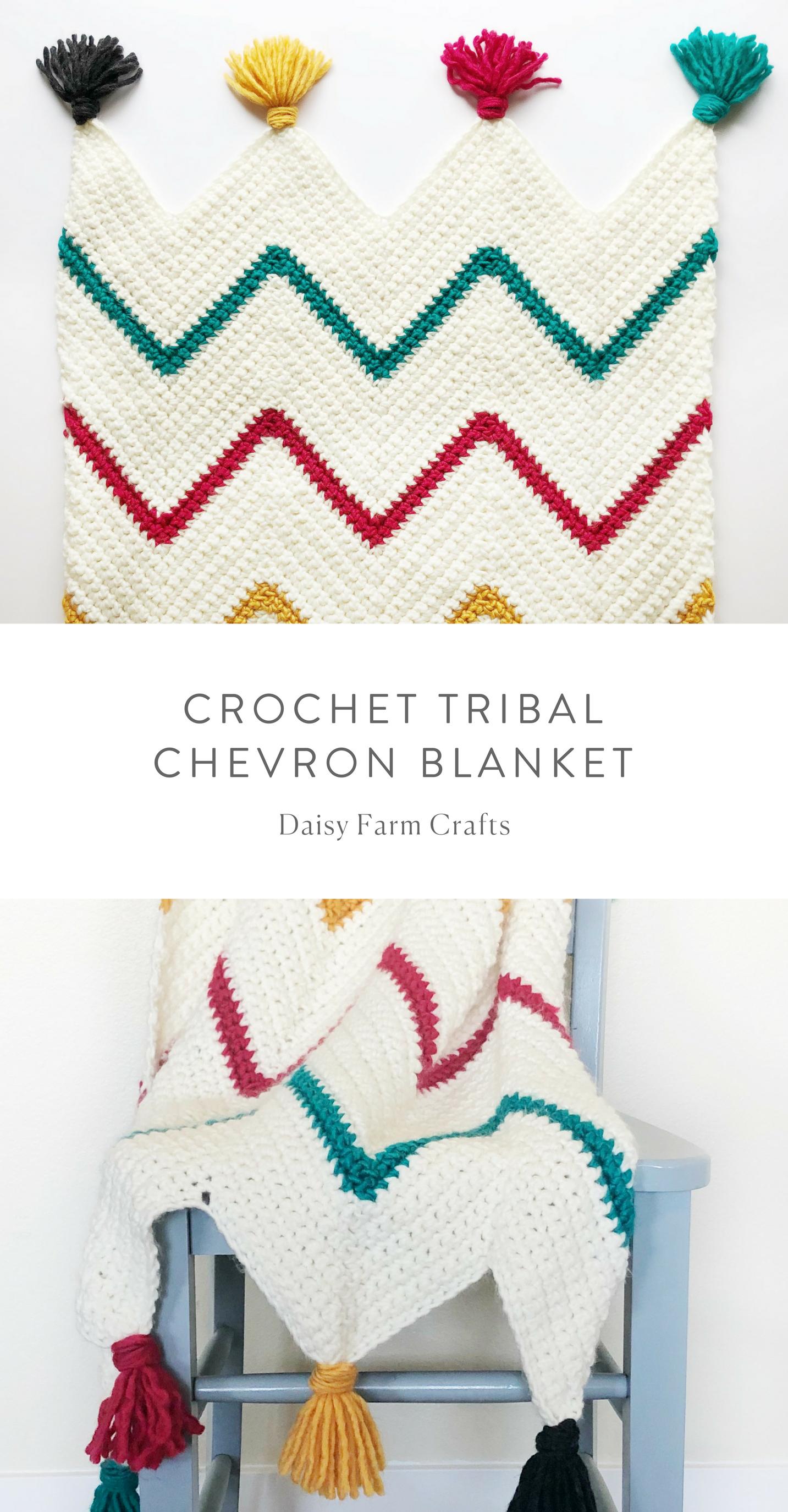Free Pattern - Crochet Tribal Chevron Blanket | Crochet Blanket ...