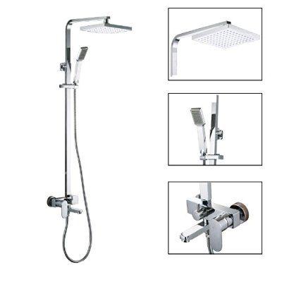 KES X6607A European Style Bathrube U0026 Shower System Rainfall Shower Head  Adjustable Shower Bar Wall Mount