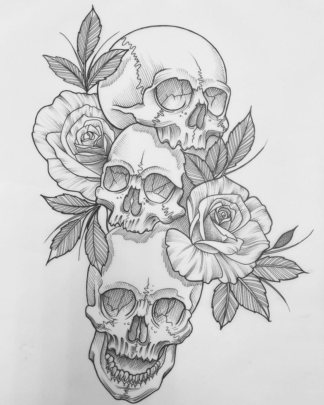 Ross Cook On Instagram Happy Valentines Skullandroses Skull Skulltattoo Rose Rosetattoo Flowerta In 2020 Tattoo Apprenticeship Skull Art Skull Tattoo