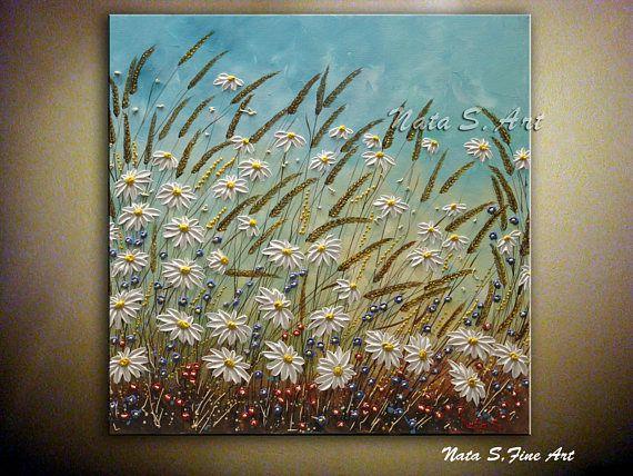 Dekorieren Sie Ihr Haus Und Büro Mit Der Ursprünglichen Abstrakten  Wildflower Malerei Auf Leinwand.