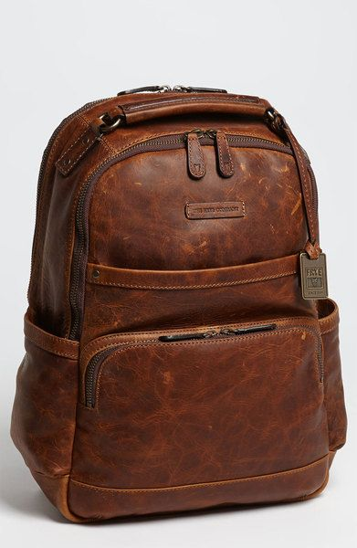 689021dee77 Men's Brown Logan Leather Backpack   Beauty and Fashion.   Brown ...