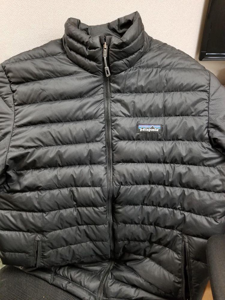 Patagonia Mens Down Sweater Jacket Black Size Medium M Pre Owned