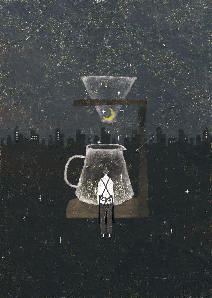 Akira Kusaka Illustration 画像 With Images Night