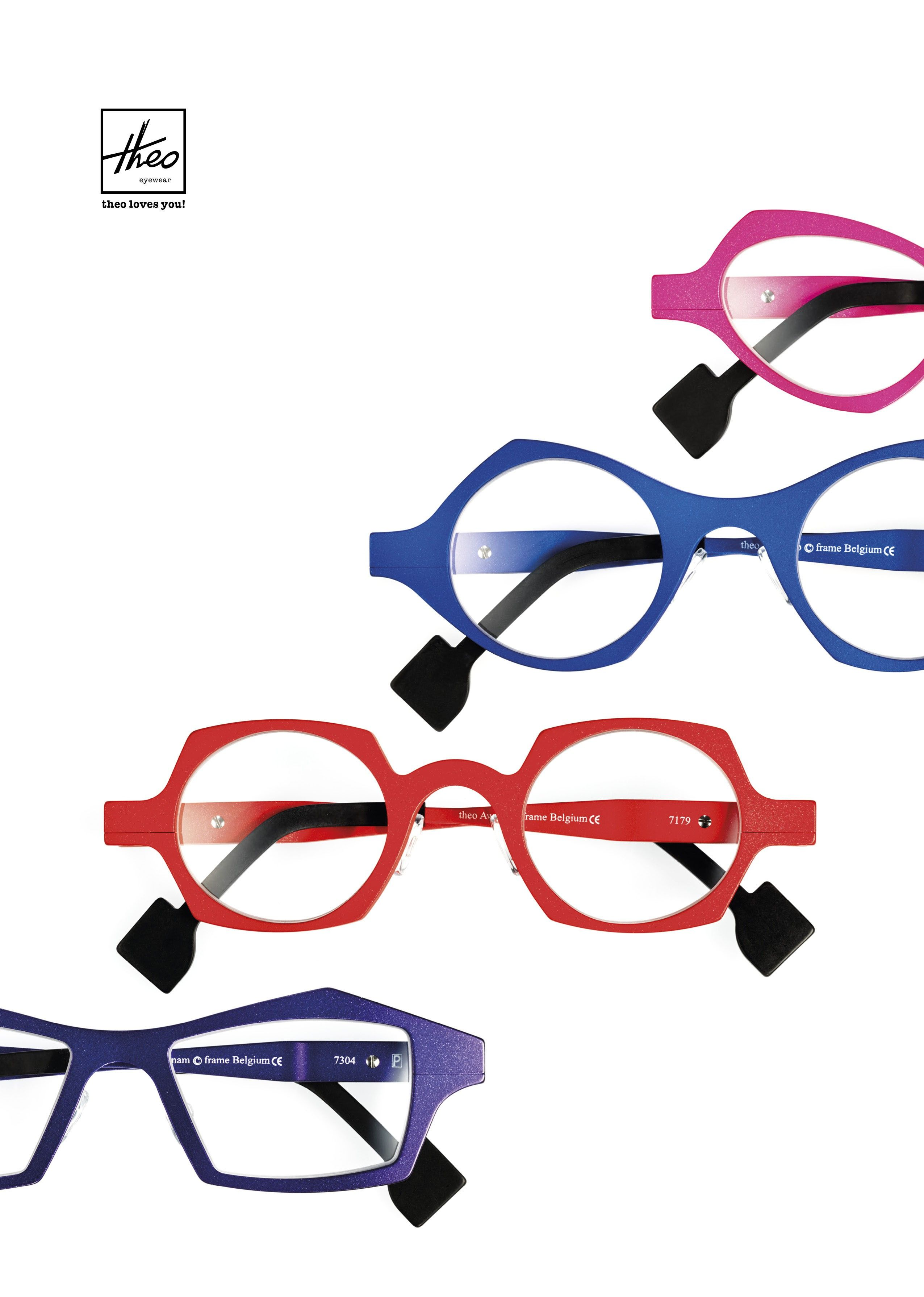 Bold and funky aluminum frames by Theo | Accessories | Pinterest ...
