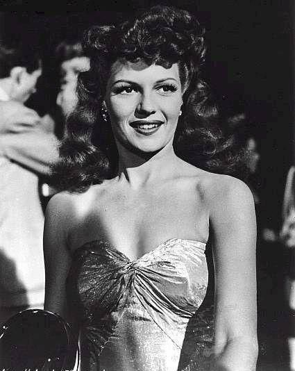 Rita on the set of Cover Girl (1944)