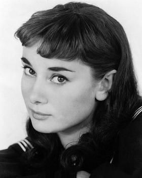 Audrey Hepburn as Anastasia Steele (yeah right - I think someone might be rolling in their grave!)