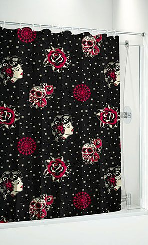 DAY OF THE DEAD SHOWER CURTAIN 1900