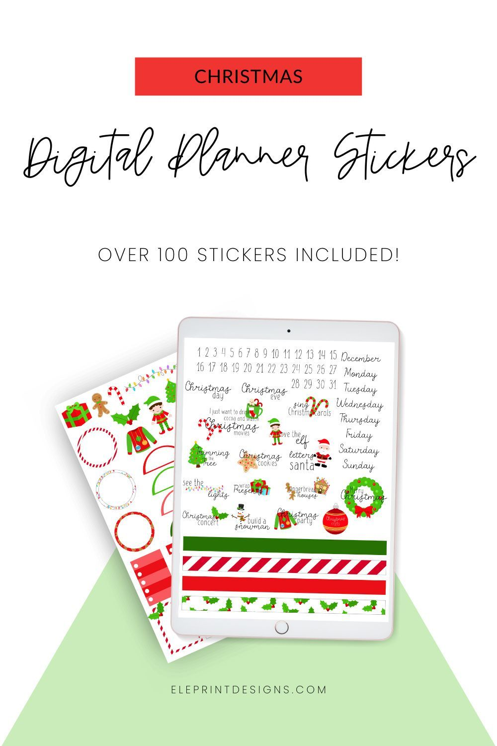 Christmas Digital Planner Stickers Goodnotes Stickers Xodo Etsy Planner Stickers Digital Planner Holiday Planner