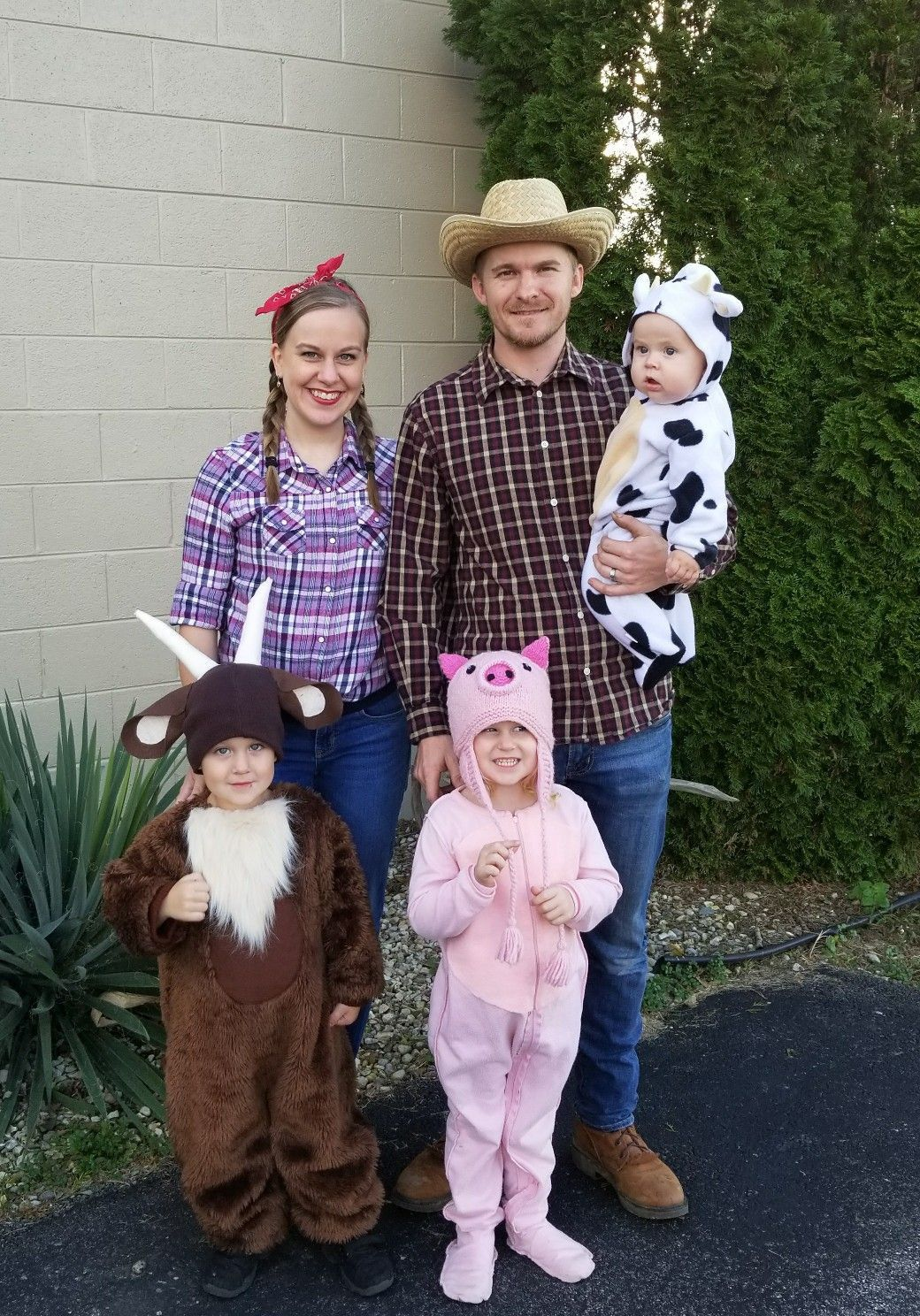 2 Farm Animals Costumes For Teens We Made These Farmer And