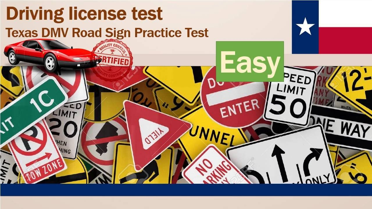 Driving license test Texas DMV Road Sign Practice Test (Easy
