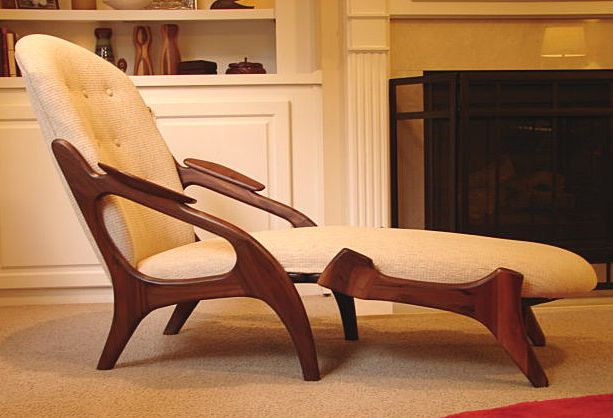 Sculptural Walnut Chaise Lounge By Adrian Pearsall For Craft